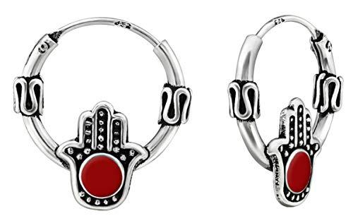 Best Wing Jewelry - Pendientes de aro para cartílago, oreja, nariz y labio, 12 mm, plata de ley 925