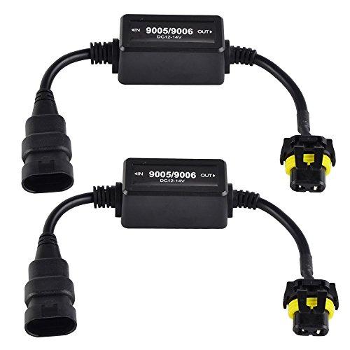 H2Racing 2 Piece Eastar 9005(HB3)/9006(HB4) Ampoule de Phare LED CANBUS Décodeur Avertissement Canceller Condensateur Canbus