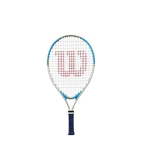 Wilson, Raqueta de Tenis para niños, Slam 21, Blanco/Verde, Altura de 100 a 115 cm