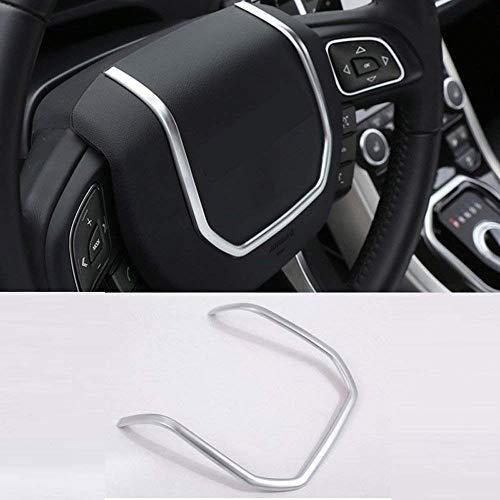 Auto-broy Auto-Aufkleber für Lenkrad, ABS, matt, silberfarben, Chrom-Lenkrad, dekorative Streifen, Aufkleber für Evoque 2012-2017 Zubehör
