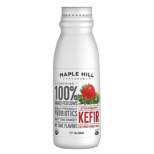 Maple Hill Creamery Kefir, Strawberry, 32 Ounce (Pack of 6)