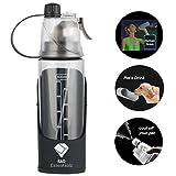Rad Essentialz Dog Water Bottle, Portable Travel Bowl, Food Grade Silicone   600ml, Pet Water Dispenser, Human & Dog Water Bottle for Walking (Black)