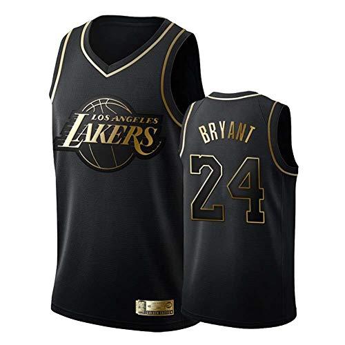 2020 All-Star Kobe Bean Bryant # 24 MenBasketball-Trikot, Los Angeles Lakers Jugend-Sport-T-Shirt Stickerei atmungsaktives Swingman-Trikot Kann wiederholt gewaschen Werden-Black-M