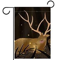 ホームガーデンフラッグ両面春夏庭屋外装飾 28x40in,鹿