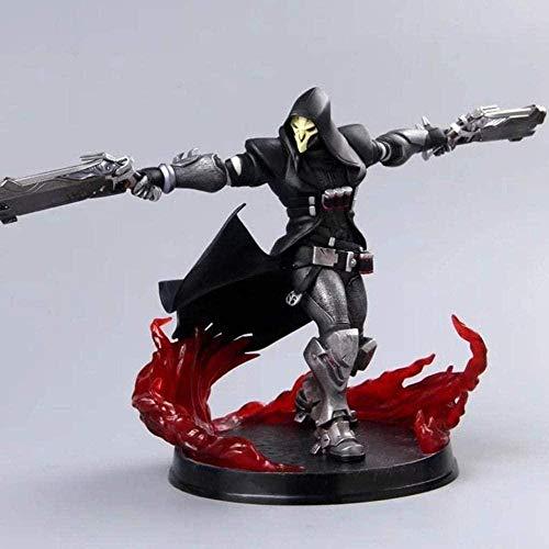 YQYW Overwatch Toy Statue Reaper Gabriel Reyes Spielmodell Home Office Dekoration Spielzeug -27CM Toy Statue
