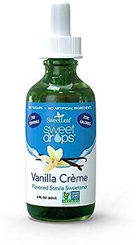 SweetLeaf Sweet Drops Liquid Stevia Sweetener Vanilla Creme 2 Ounce