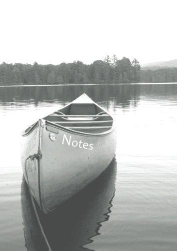 Notizbuch A4 - kariert - Kanu / Boot: DIN A4 - Tagebuch