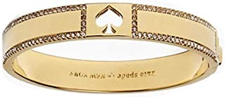 Kate Spade Women's Hole Punch Spade Gold Tone with Crystals Bangle Bracelet