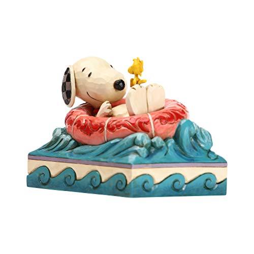 Enesco Peanuts by Jim Shore Snoopy und Woodstock in Floatie-Figur, 10,2 cm, Mehrfarbig