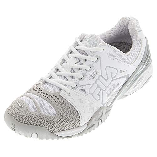 Fila Women`s Cage Delirium Tennis Shoes White and Metallic Silver (6)