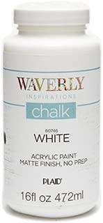Waverly Inspirations Matte Chalk Finish Acrylic Paint, 16 oz ( White )