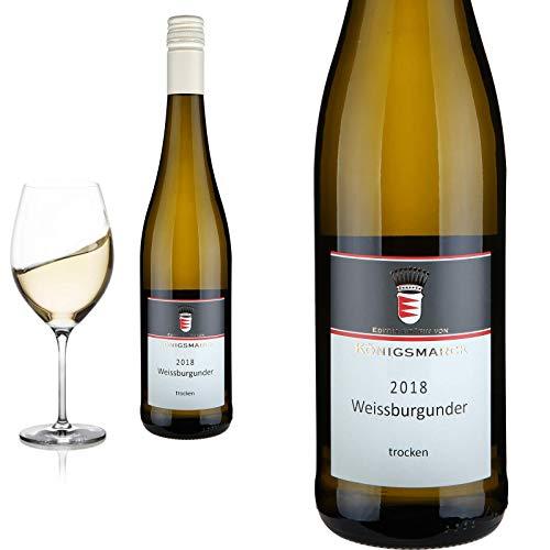 2018 Weißer Burgunder - trocken BIO-Wein Oppenheimer Kreuz Königsmarck - Weißwein,