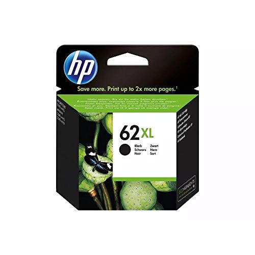 HP C2P05AL Cartucho 62XL, Color Negro