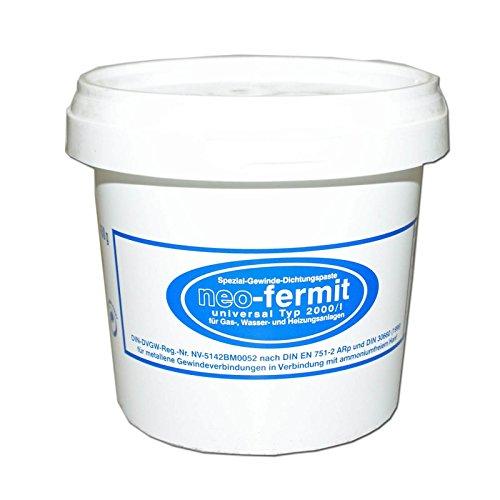 Stabilo-Sanitaer Neo-Fermit Gewinde Dichtpaste 450g, Spezial Dichtungspaste Gas Wasser Heizungsanlagen, Gewindedichtmittel schwundfrei, lösemittelfrei, demontierbar