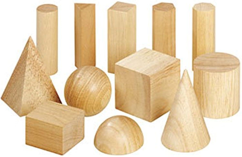 Unbekannt Klassensatz aus 8 Geometrie-Körpersätzen - 96 Geometrische Holz-Körper, Flächen und Volumen, Mathe B01MDQM8UW  | Gewinnen Sie das Lob der Kunden