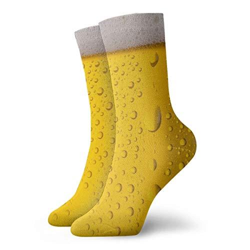 OUYouDeFangA Wassertropfenförmige Bierblase für Erwachsene, Baumwolle, Sport, kurze Socken für Yoga, Wandern, Radfahren, Laufen, Fußballsport