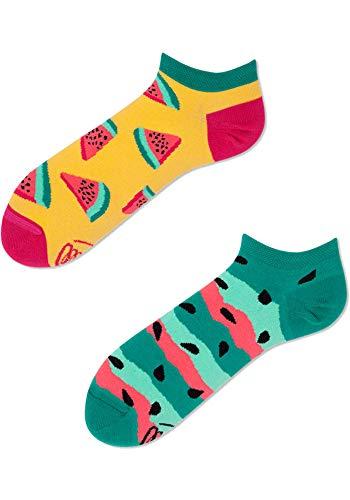 Many Mornings Socken Low unisex Sneakersocken Knöchelsocken Watermelon Splash (39-42 WS)
