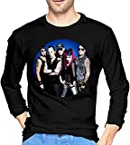 KMFDM Rock Music Band Men's Casual Round Neck Long Sleeve T-Shirts Customized Top tee