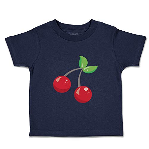 Custom Baby & Toddler T-Shirt Red Cherry Cotton Boy & Girl Clothes Funny Graphic Tee Navy Design Only 18 Months