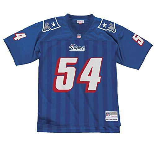 Mitchell&Ness M&N NFL Legacy Jersy Retro Trikot mit 7kmh Aufkleber N.E. Patriots T. Bruschi L