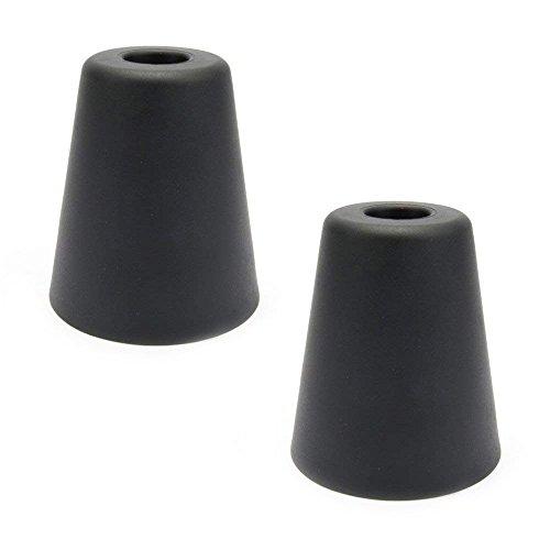 Sossai® 2 x Türstopper NTS   Modell: Hans   Höhe: 80mm   Durchmesser: 70mm   Farbe: anthrazit   Wandschutz geeignet für Bodenmontage