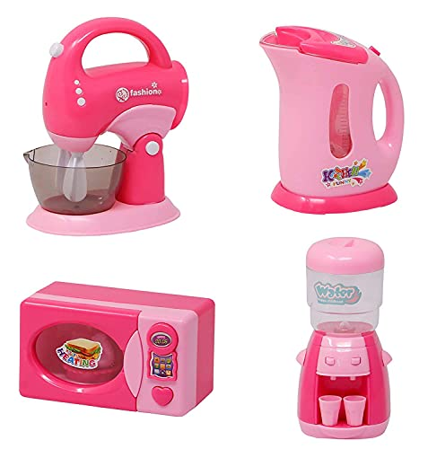 Autobots Plastic Kids Battery Operated Household Home Appliances Kitchen Play Sets Toys for Girls with Realistic Sound Washing Machine , Sewing Machine, Vacuum Cleaner, Juicer, toaster, Iron & Coffee Maker(Any Random Set of 4)