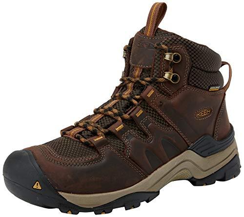 KEEN Men's Gypsum II Mid Waterproof Shoe, Coffee Bean/Bronze Mist, 10.5 M US
