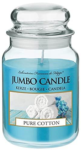 Jumbo Candle - Candela profumata in barattolo di vetro (grande), durata fino a 150 ore