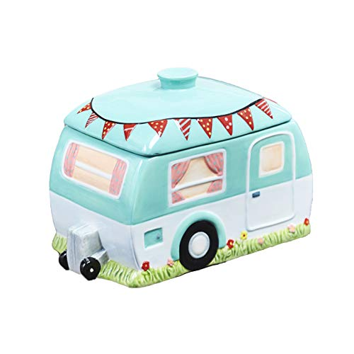 Buy Discount The Lakeside Collection Retro Style Camper Pet Treat Jar - Earthenware Food Container