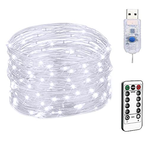 Led Solar Fairy Lights, 20m Solar String Lights Silver Wire Lights Outdoor String Lights for Garden Patio Gate Yard Party Wedding Indoor Bedroom