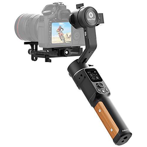 FeiyuTech AK2000C Kamera Gimbal, DSLR Stabilisator Handheld Camera Stabilizer,LCD Touch Panel, 3-Achsen bis 2,2kg für Spiegellose Canon 5D Mark Nikon D500 D7500 Sony A9 A7R2 A6500 Panasonic
