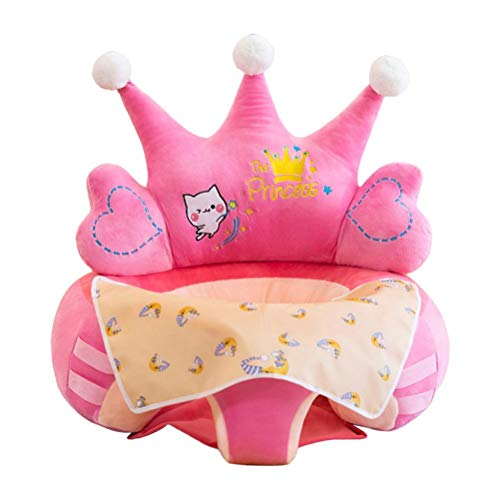 Kehyes Baby Seat Sofa Cartoon Infant Sit Feeding Learning Chair with Filling Cotton and Rod Toys for Kids