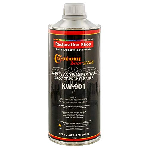 Custom Shop Restoration KW901 - Automotive Grease and Wax Remover Surface Prep Cleaner for Before Automobile Painting and All Painting Projects (Quart)