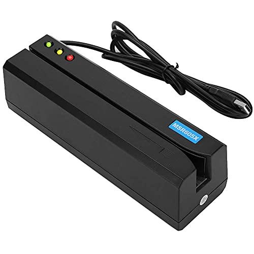 Lector de Tarjetas de crédito MSR605X, máquina de Escritura, Terminal de Tarjeta móvil USB para Windows y Mac, Soporte de 3 Pistas IBM, ISO, ANSI, DIN para Varias Tarjetas de Regalo