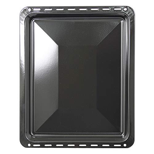 SPARES2GO Bandeja de horno grande de esmalte vítreo compatible con Hotpoint, Ariston, Indesit y Creda (455 mm x 370 mm)