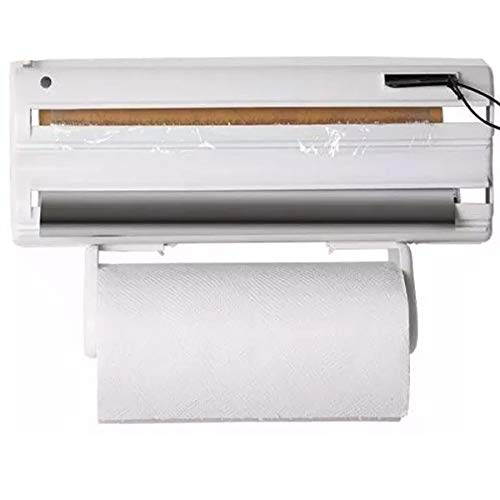 Porta Rolos Papel Toalha Alumínio Pvc 5 Em 1 Clean Maxroll