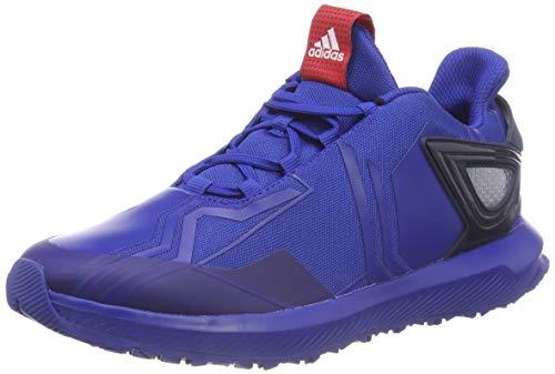 adidas Unisex-Kinder RapidaRun Spider-Man Fitnessschuhe, Blau (Reauni/Escarl/Maruni 000), 25.5 EU