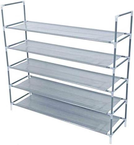 Super special price WUIIEN Ranking TOP7 5 Tier 50 Pairs Shoe Shelf St Closet Rack Cabinet Storage