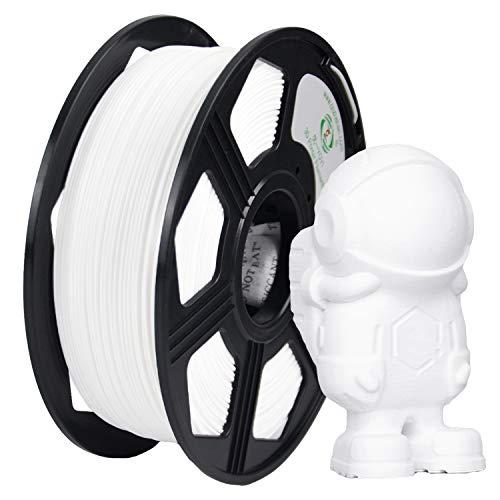 YOYI ABS Filament 1.75mm,3D Printer Filament ABS 1.75mm 1kg (2.2 LBS) Dimensional Accuracy +/- 0.03 mm(White ABS)