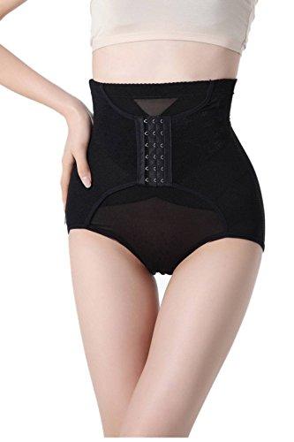 COMVIP Culotte Sculptante Gainante Femme Taille Haute Lingerie Amincissant Ventre Plat Push Up Noir 73-80cm