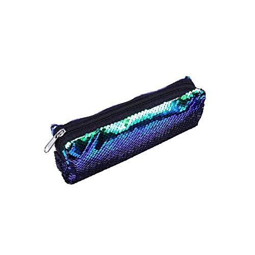 ZWWZ Cosmetic Bag Organizer Mode-Marken-Frauen-Kosmetik-Beutel Sequin-Bleistift-Kasten-Verfassungs-Beutel-Briefpapier-Speicher-Beutel-Geldbeutel-Organisator -e- HAIKE (Color : A, Size : Size)