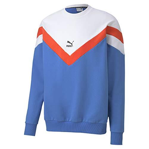 PUMA Herren Iconic MCS Crew FT Pullover, Palace Blue, L