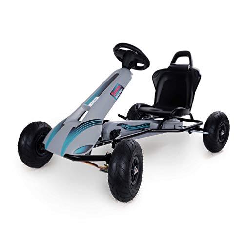 Rolly Toys F008740 Go AR8P (Cart mit Freilaufautomatik, verstellbarem Sitz, Luftreifen UVM) grau/schwarz