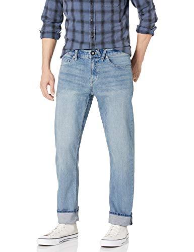 Volcom Men's Solver Denim Jean Wide Goods Light 33W x 34L