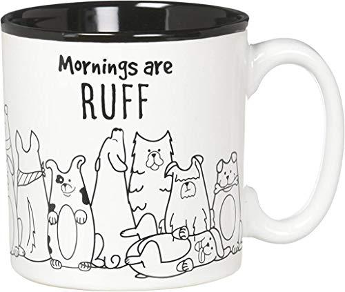 Burton and Burton Mornings are Ruff Ceramic Coffee Mug, 13 Ounce