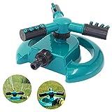 Festnight Sprinkler Rotierende Rasensprinkler Gartensprinkler Großflächige Wasserversorgung Sprinkler für Rasenflächen und Gärten im Freien