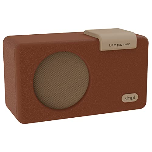 SMPL One-Touch Music Player, Audiobooks + MP3, Quality-Sound, Durable Wooden Encloser with Retro Look, 4GB USB with 40 Nostalgic Hits Included, Live Technical Support (Brown, Music Player)