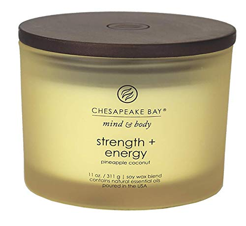 Chesapeake Bay Candle Scented Candle, Strength + Energy (Pineapple Coconut), Coffee Table