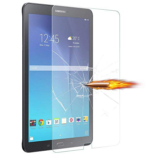 Samsung Galaxy Tab E 9.6' Inch (SM-T560/ SM-T565) Screen Protector, [Anti-Scratch][Easy Installation][Bubble Free] Tempered Glass film