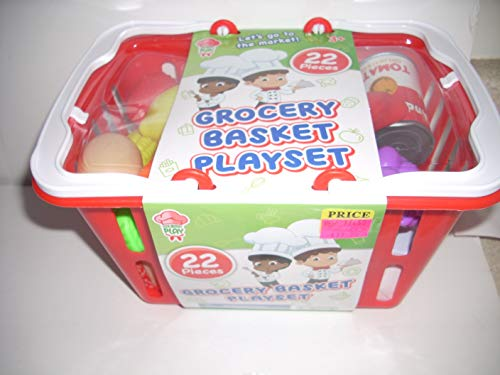 the toy association Grocery Basket playset Gourmet Play 22 Pieces